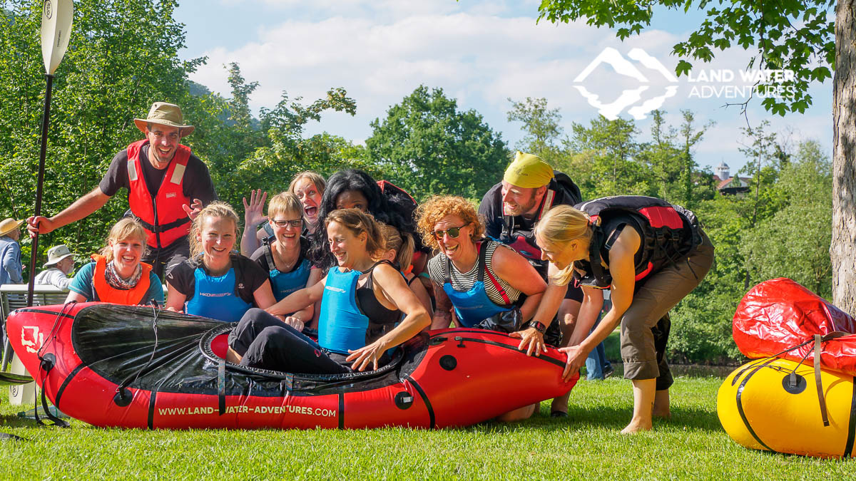 Packrafting Events for private Gruppen und Familien